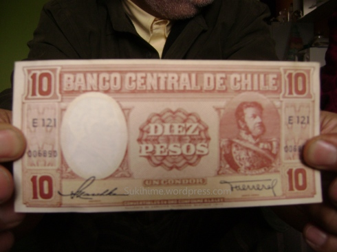 billete chileno antiguo