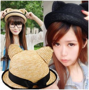summer cat ears hat